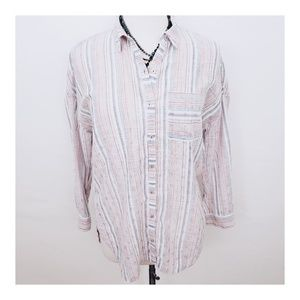 Maeve by Anthropologie Striped Button Down
